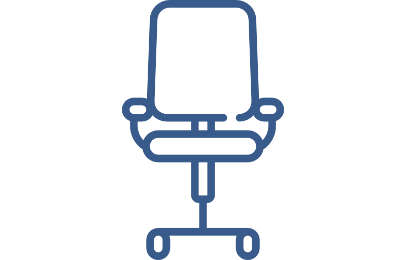 career desk chair icon